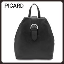 PICARD Casual Style Plain Leather Backpacks
