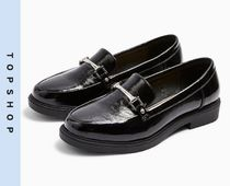 TOPSHOP Casual Style Faux Fur Loafer & Moccasin Shoes