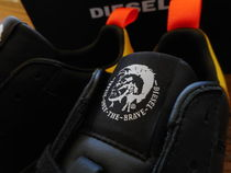 DIESEL Leather Logo Sneakers
