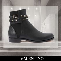 VALENTINO Leather Elegant Style Ankle & Booties Boots