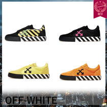 Off-White Suede Blended Fabrics Street Style Plain Sneakers