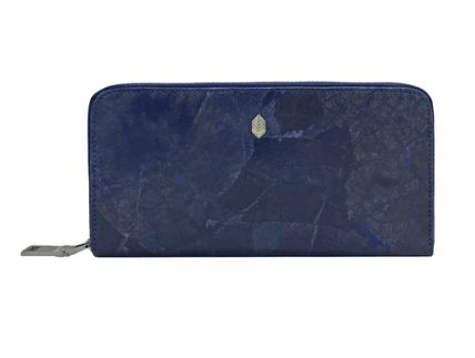 Blended Fabrics Plain Handmade Long Wallet  Long Wallets