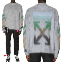 Off-White Street Style Long Sleeves Oversized Knits & Sweaters