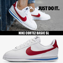 Nike CORTEZ Round Toe Rubber Sole Casual Style Faux Fur Street Style