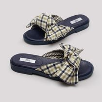 miista Other Plaid Patterns Rubber Sole Street Style Handmade