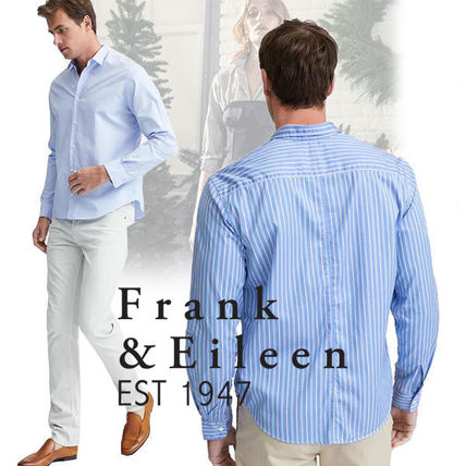 Stripes Other Check Patterns Long Sleeves Cotton Shirts