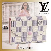 Louis Vuitton DAMIER AZUR Other Check Patterns Street Style Leather Folding Wallets