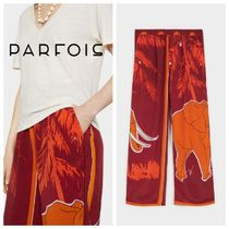 PARFOIS Casual Style Other Animal Patterns Long Pants