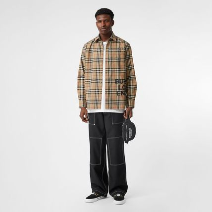 Burberry Shirts Other Check Patterns Unisex Street Style Long Sleeves Cotton 2