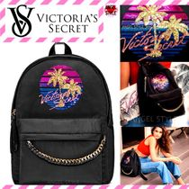 Victoria's secret Tropical Patterns Casual Style Nylon Bag in Bag A4 Backpacks