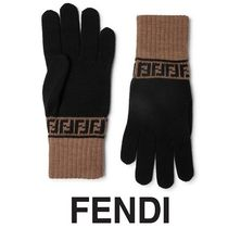 FENDI Wool Plain Gloves Gloves