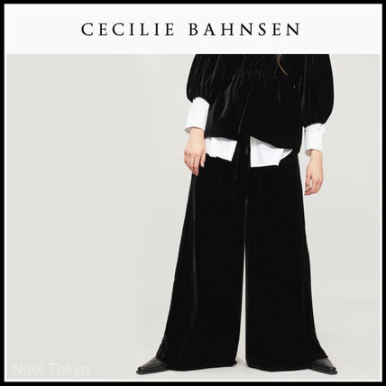 Plain Long Oversized Elegant Style Culottes & Gaucho Pants