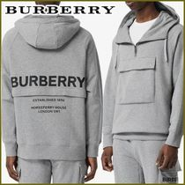 Burberry Pullovers Unisex Street Style Long Sleeves Plain Cotton