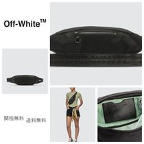 Off-White Unisex Street Style Shoulder Bags