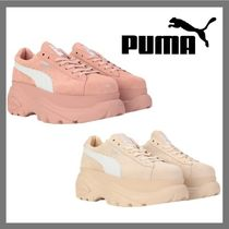 PUMA SUEDE Platform Casual Style Suede Collaboration Plain