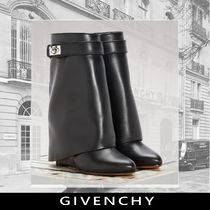 GIVENCHY Casual Style Plain Leather Ankle & Booties Boots