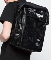 BOY LONDON Unisex Studded Street Style Backpacks