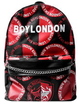 BOY LONDON Casual Style Unisex Faux Fur Studded Street Style Backpacks
