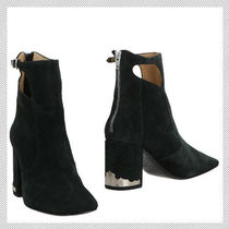 TOGA Suede Block Heels Elegant Style Ankle & Booties Boots