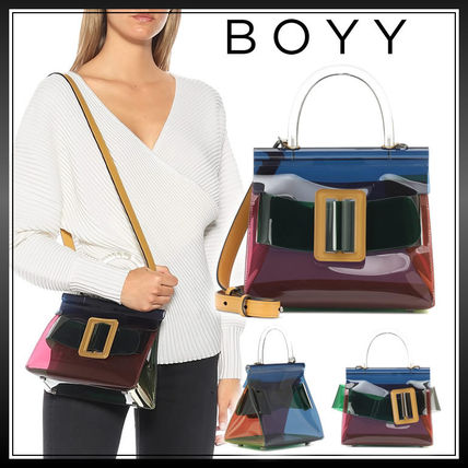 Casual Style Street Style 2WAY Plain Crystal Clear Bags