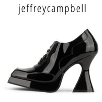 Jeffrey Campbell Casual Style Plain Leather Chunky Heels High Heel Boots