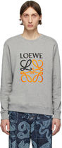LOEWE Crew Neck Unisex Street Style Long Sleeves Cotton