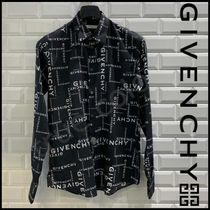 GIVENCHY Button-down Street Style Long Sleeves Shirts
