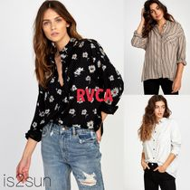 RVCA Stripes Flower Patterns Casual Style Street Style