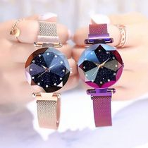 Casual Style Metal Round Digital Watches