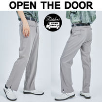 OPEN THE DOOR Slax Pants Unisex Street Style Plain Oversized Slacks Pants