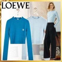 LOEWE GATE Crew Neck Cashmere Long Sleeves Cashmere