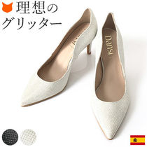Dansi Plain Leather Pin Heels Party Style