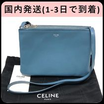 CELINE Trio Bag Plain Shoulder Bags