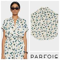 PARFOIS Tropical Patterns Casual Style Short Sleeves