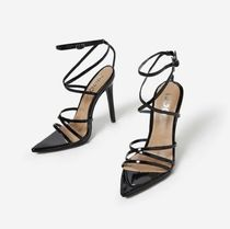 EGO Casual Style Plain Pin Heels Mules Heeled Sandals