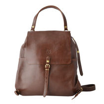 IL BISONTE Casual Style Plain Leather Backpacks