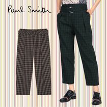 Paul Smith Other Check Patterns Unisex Street Style Cotton Long