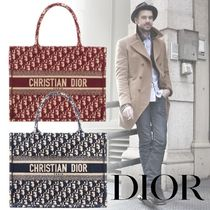 Christian Dior Monogram Unisex Canvas Street Style A4 Bold Totes
