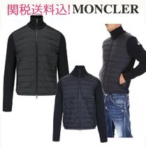 MONCLER CARDIGAN Blended Fabrics Plain Logos on the Sleeves Cardigans