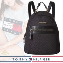 Tommy Hilfiger Monogram Casual Style Backpacks