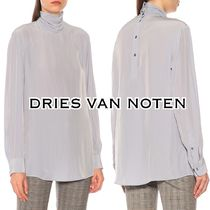 Dries Van Noten Long Sleeves Plain Elegant Style Turtlenecks