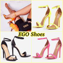 EGO Open Toe Casual Style Plain Pin Heels Heeled Sandals