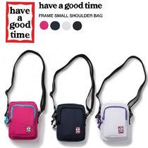 have a good time Unisex Nylon Street Style Plain Shoulder Bags