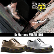 Dr Martens VEGAN Round Toe Rubber Sole Lace-up Casual Style Street Style