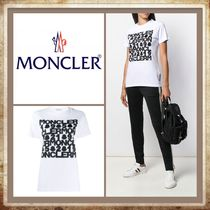 MONCLER Crew Neck Short Plain Cotton Short Sleeves Cropped