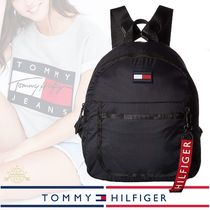 Tommy Hilfiger Casual Style Nylon Plain Backpacks