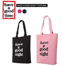 have a good time Unisex Street Style Plain Totes