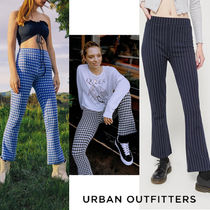 Urban Outfitters Gingham Stripes Casual Style Medium Cropped & Capris Pants