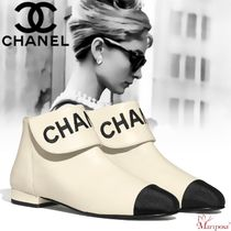 CHANEL Plain Toe Casual Style Blended Fabrics Street Style Plain