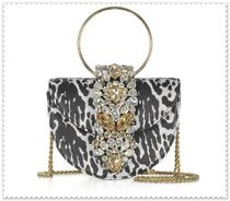 GEDEBE Zebra Patterns Leopard Patterns Chain Leather With Jewels